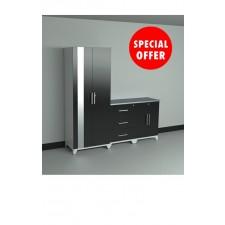 NewAge Performance Series Matte Black 4 Piece Garage Cabinet Set - N36045