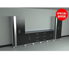 NewAge Performance Series Matte Black 8 Piece Garage Cabinet Set - N36029
