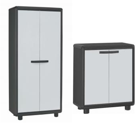Attractive plastic cabinets for indoor use