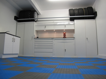 GaragePride cabinets in one of the nine colours available
