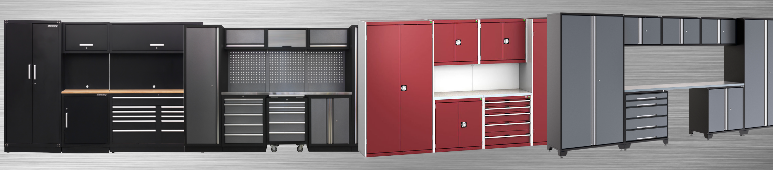 Modular garage cabinets for your garage storage solutions.