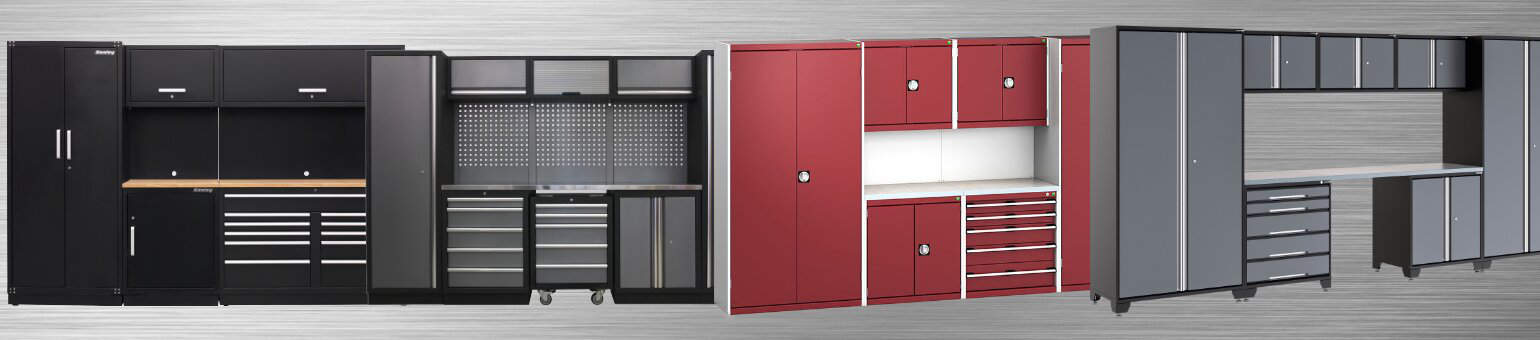 Modular garage cabinets for a garage storage makeover.