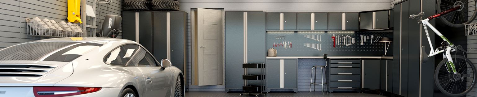 Black and grey garage furniture - GaragePride EVOline