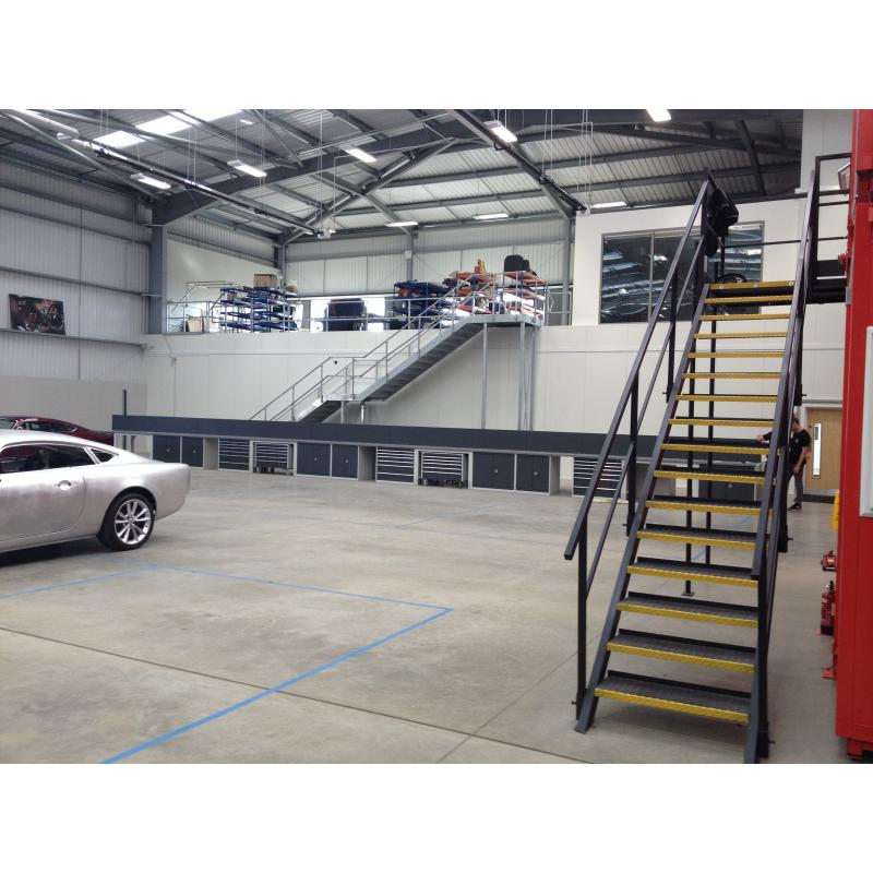 David Brown Automotive's new facility near Silverstone. Bott Cubio cabinets supplied. Layout designed by GaragePride. David Brown produce the Mini Remastered and Speedback GT.