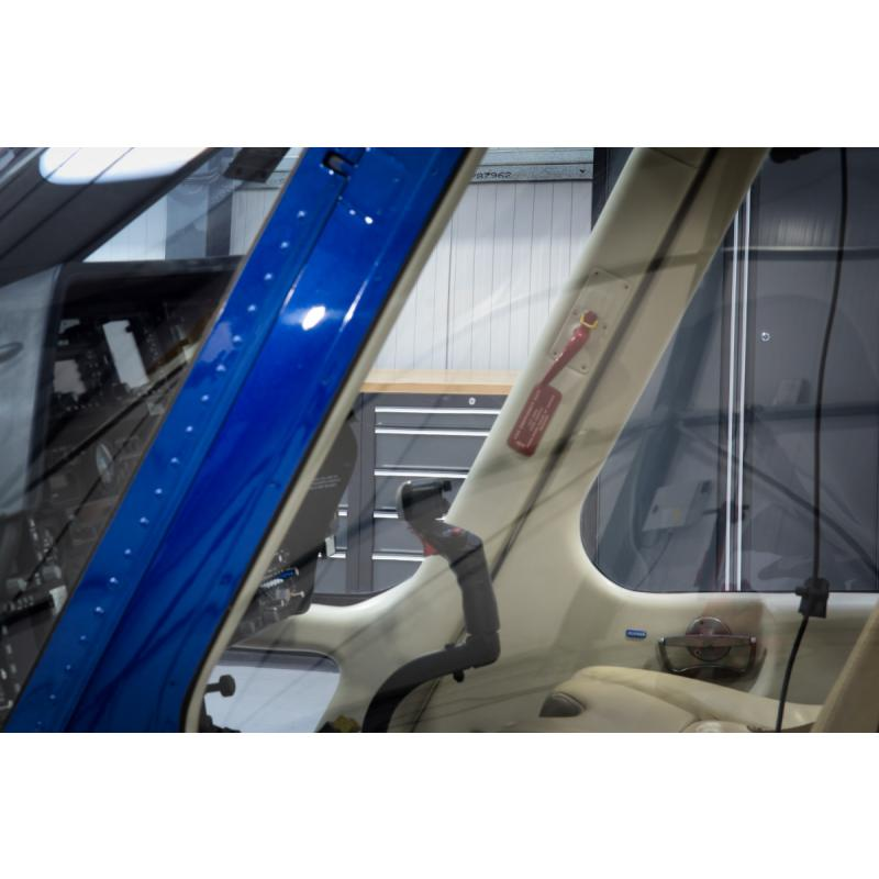 Pro series cabinets in a customer's helicopter hangar.