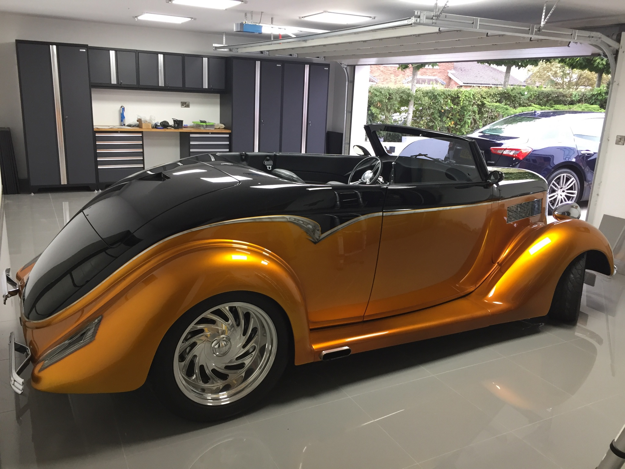 A customer's beautiful Ford hot rod - and a set of our Pro Series cabinets. A great combination!