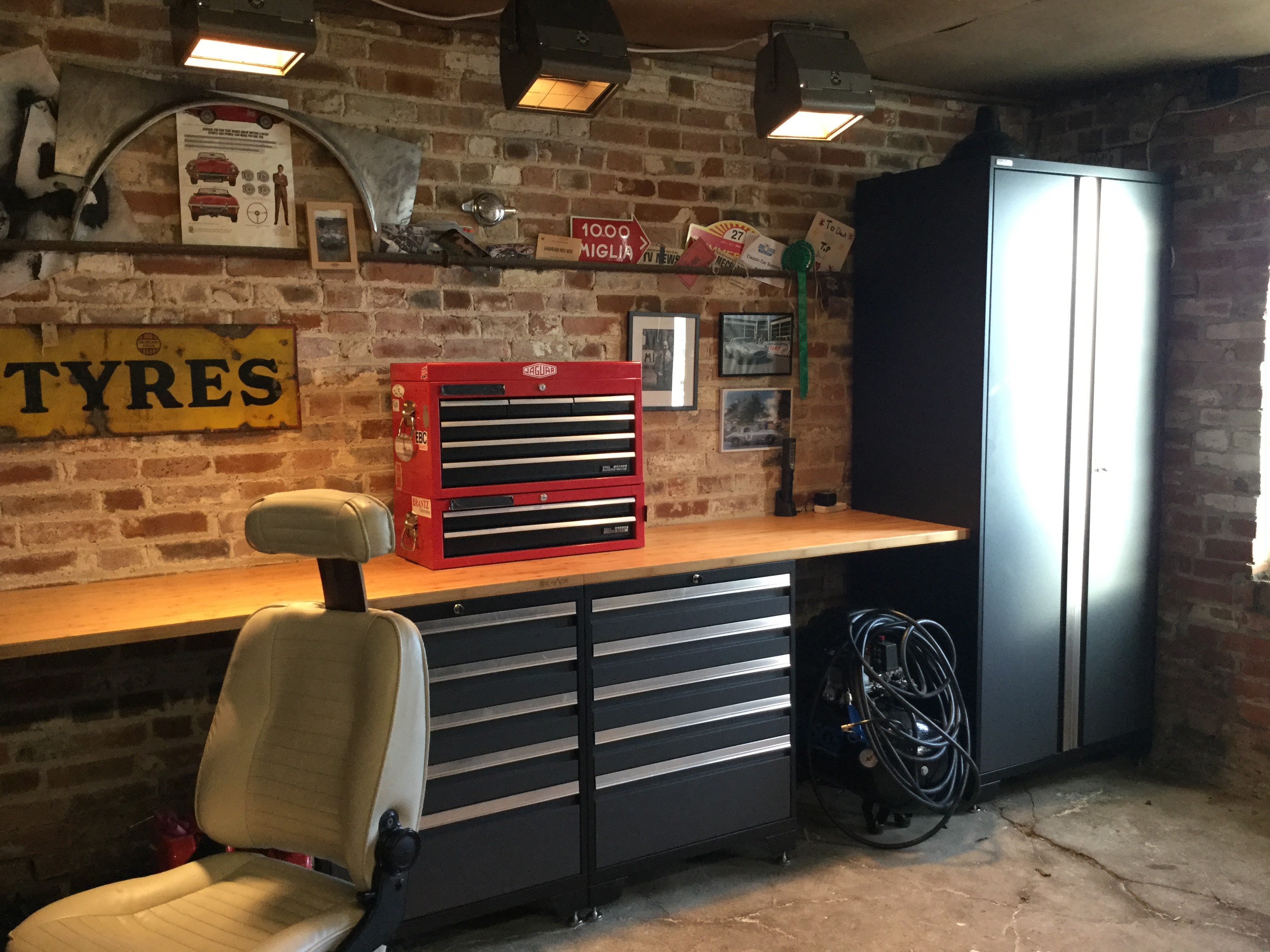 A customer's new man cave using Pro Series cabinets