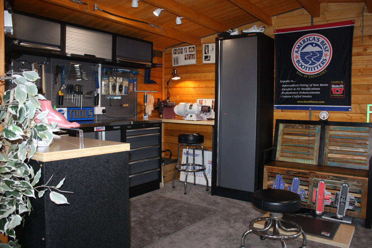 A customer created the perfect man cave and workshop for the serious cyclist.