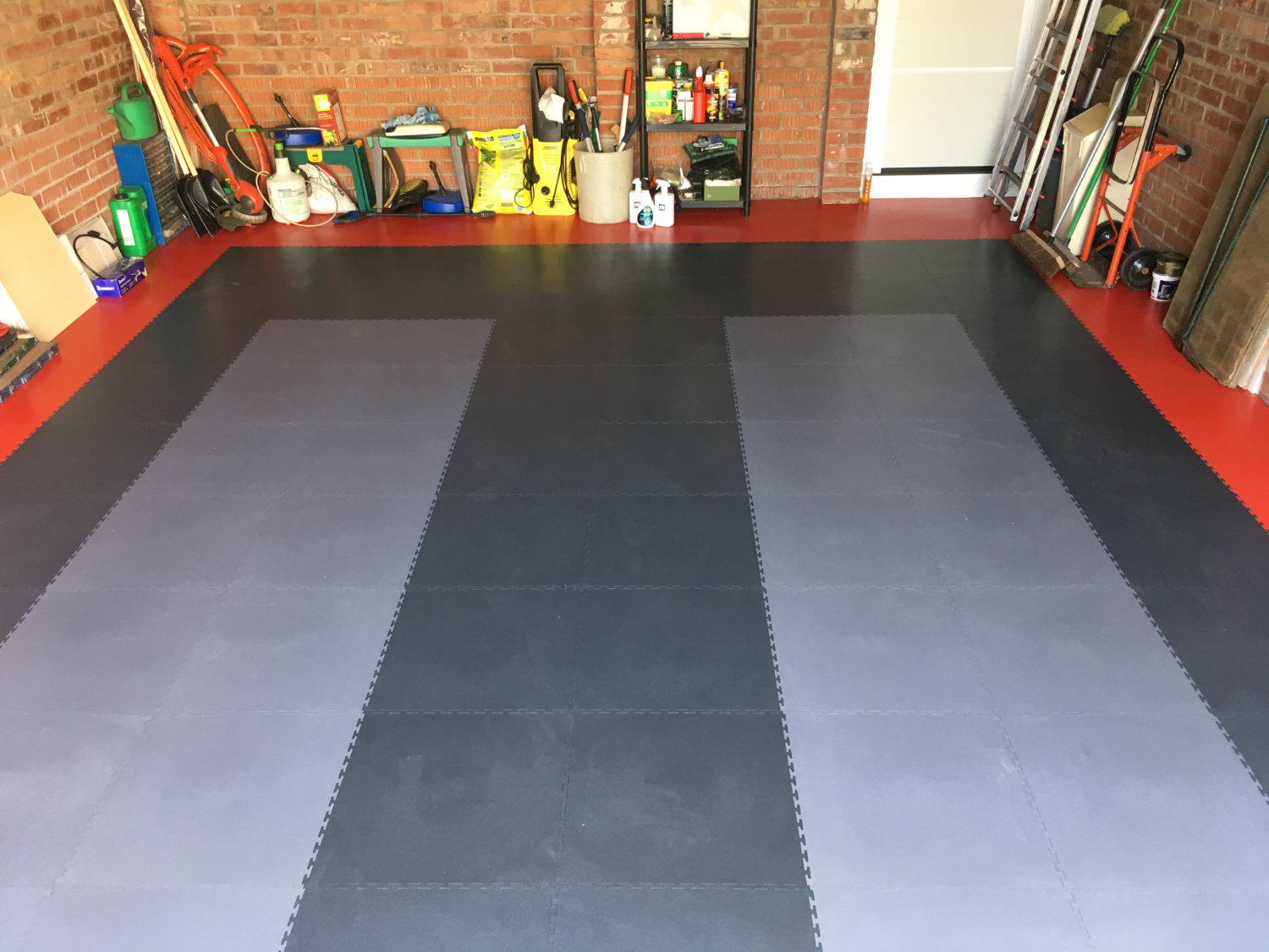 Another garage floor transformed making the garage a much more welcoming environment.