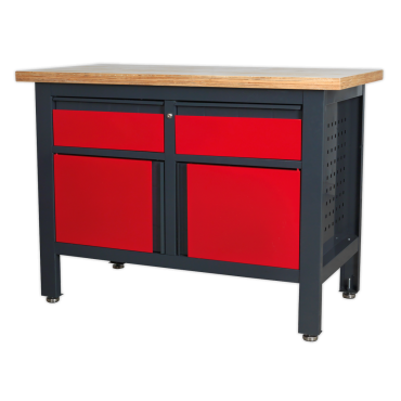 Workbench, with Drawers and Cupboards - GAP1372A Sealey