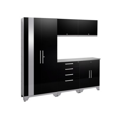NewAge Performance 2.0 High Gloss Black 6 Piece Garage Cabinet Set - N53550