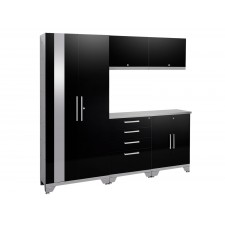 NewAge Performance 2.0 High Gloss Black 6 Piece Garage Cabinet Set - N53550