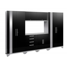 NewAge Performance 2.0 High Gloss Black 7 Piece Garage Cabinet Set - N53554
