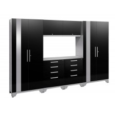 NewAge Performance 2.0 High Gloss Black 7 Piece Garage Cabinet Set - N53558