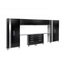 NewAge Performance 2.0 High Gloss Black 10 Piece Garage Cabinet Set - N53582