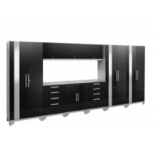 NewAge Performance 2.0 High Gloss Black 10 Piece Garage Cabinet Set - N53590