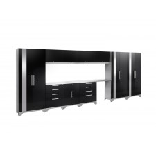 NewAge Performance 2.0 High Gloss Black 12 Piece Garage Cabinet Set - N53598