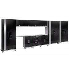 NewAge Performance 2.0 High Gloss Black 12 Piece Garage Cabinet Set - N53602
