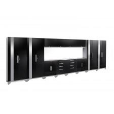 NewAge Performance 2.0 High Gloss Black 14 Piece Garage Cabinet Set - N53610