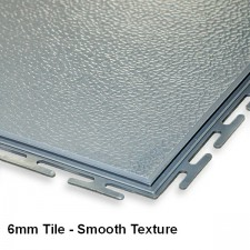 Garage Floor Tiles, 6mm Thick PVC- Concealed Joint Smooth Texture