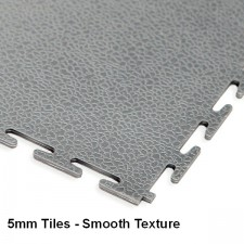 Garage Floor Tiles, 5mm Thick PVC - Smooth Texture