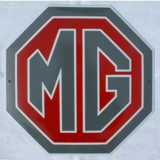 Enamel Sign MG Octagon