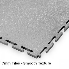 Garage Floor Tiles, 7mm Thick PVC - Smooth Texture