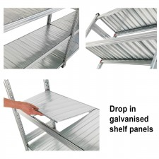Galvanised Shelves Extra Level