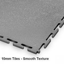 Workshop Floor Tiles, 10mm Thick PVC - Smooth Texture