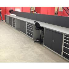 David Brown Automotive's new facility near Silverstone. Bott Cubio cabinets supplied. Layout designed by GaragePride.
