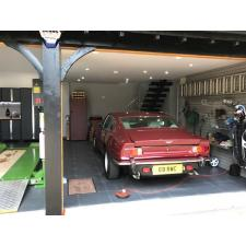 Aston Martin customer with Storewall, tiles and cabinets (left). June 2017