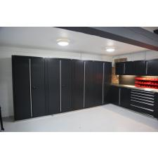 A residential workshop modelled and supplied by GaragePride.