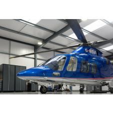 NewAge Pro series cabinets in a customer's helicopter hangar.