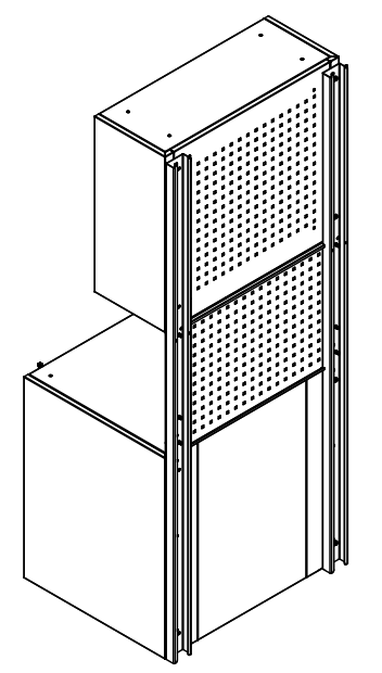 Cubio backstrap cabinet supports