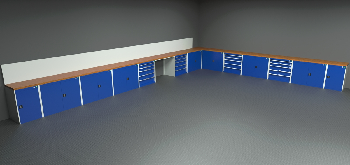 Garage Interior - Rendered Image