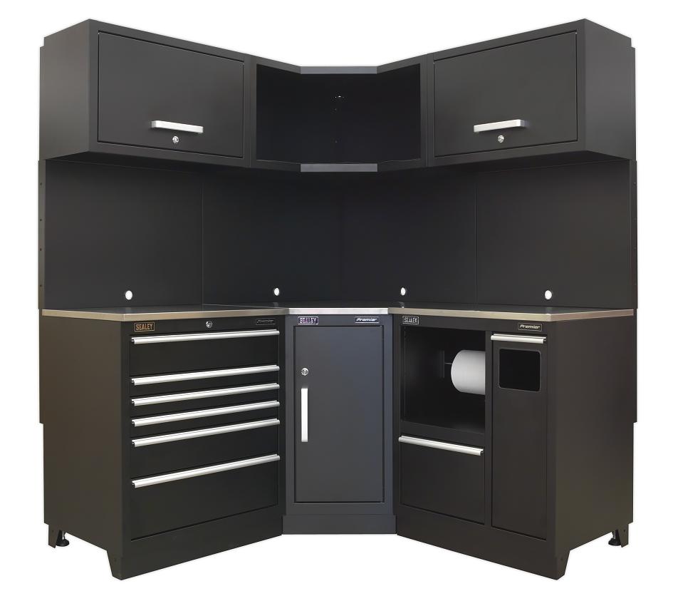 Sealey modular garage cabinets corner solution