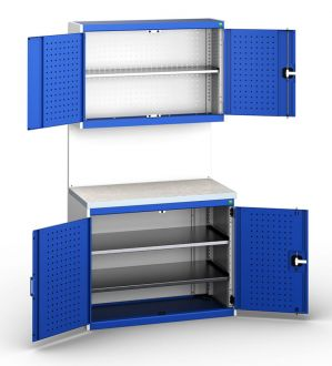 Bott Cubio 1050mm Wide Free-Standing Cupboard Assembly with Overhead Cabinet