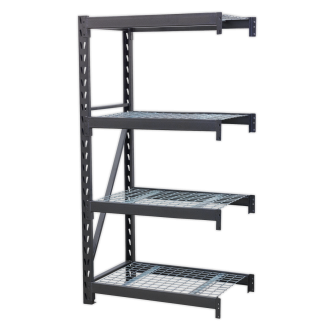 Heavy-Duty Racking Unit with 4 Mesh Shelves 640kg Capacity Per Level 978mm