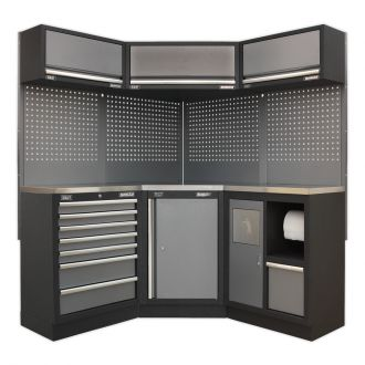 Sealey Corner Solution Cabinet Set SSLP08 - Superline Pro Range