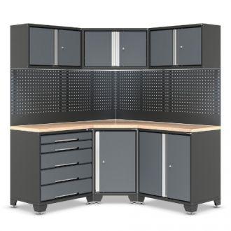Garage Corner Cabinets with Drawer