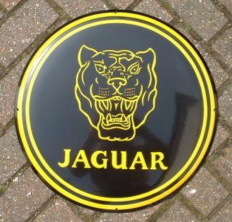 Enamel Sign Jaguar