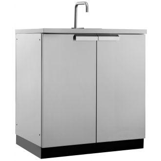 Outdoor stainless steel kitchen sink
