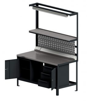 Heavy Duty Workstation With Steel Worktop