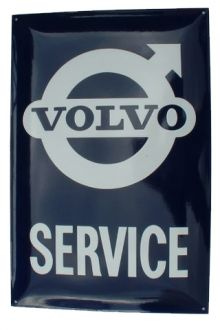 Enamel Sign Volvo Service