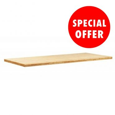 Bamboo Worktop N36072 Three Cabinets Wide