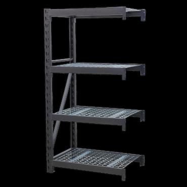 Heavy-Duty Racking Unit with 4 Mesh Shelves 640kg Capacity Per Level 978mm