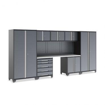 Garage Tool Storage Cabinet Set EVOline G2025 Lino Worktop