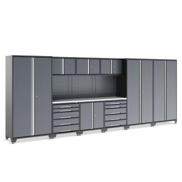 EVOline garage cabinet set 10 piece with beech worktop