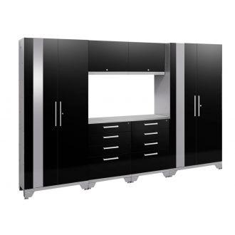 7 Piece Garage Cabinet Set N53560/58 Performance 2.0 High Gloss Black