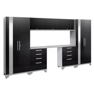 8 Piece Garage Cabinet Set N53568/66 Performance 2.0 High Gloss Black